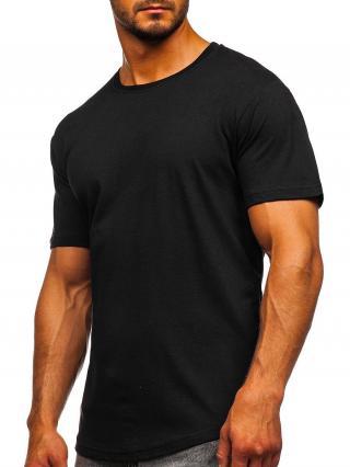 Černé pánské dlouhé tričko bez potisku Bolf 14290 2XL