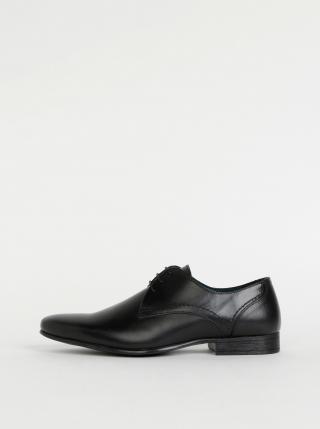 Černé pánské kožené polobotky Burton Menswear London Sapson pánské černá 42