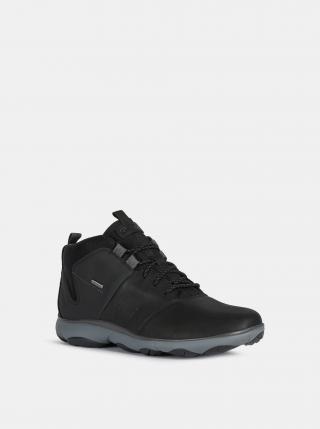 Černé pánské kožené zimní boty Geox pánské černá 44