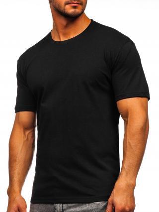 Černé pánské tričko bez potisku Bolf 14291 S