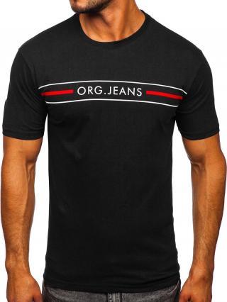 Černé pánské tričko s potiskem Bolf 14802 S