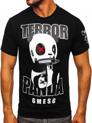 Černé pánské tričko s potiskem Bolf 2337 S