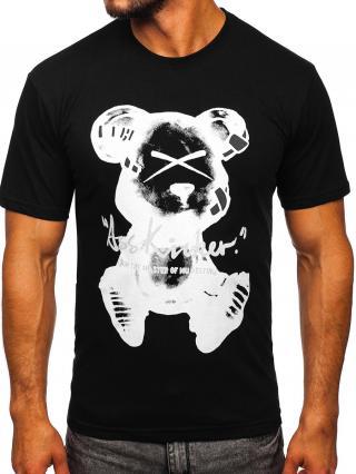 Černé pánské tričko s potiskem Bolf KS2523T L