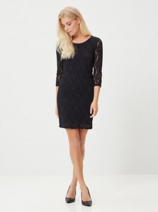 Černé pouzdrové krajkové šaty VERO MODA dámské černá XS