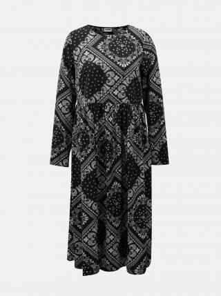 Černé vzorované šaty Noisy May Paise dámské černá S
