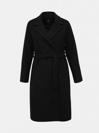 Černý kabát s příměsí vlny Zizzi Yolanda dámské černá XL