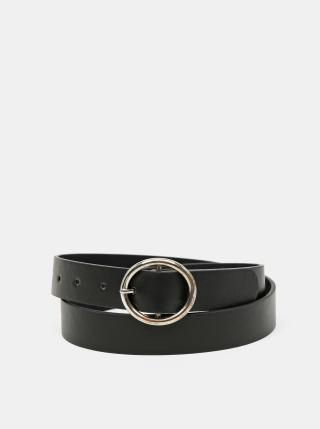 Černý kožený pásek Zabaione dámské černá 90