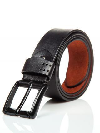 Černý pánský kožený opásek Bolf P011 110 cm