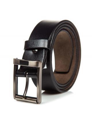 Černý pánský kožený opásek Bolf P014 100 cm