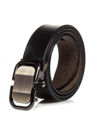 Černý pánský kožený opásek Bolf P015 100 cm