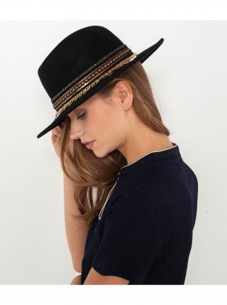 Černý vlněný klobouk CAMAIEU dámské černá L-XL