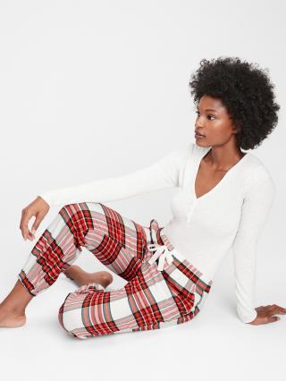 Červené dámské pyžamové kalhoty GAP dámské červená S