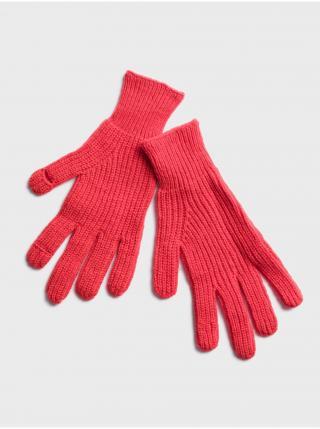 Červené dámské rukavice GAP dámské červená ONE SIZE