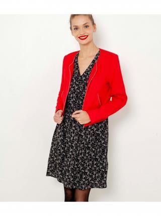 Červené dámské sako s ozdobným lemováním CAMAIEU dámské červená XXL
