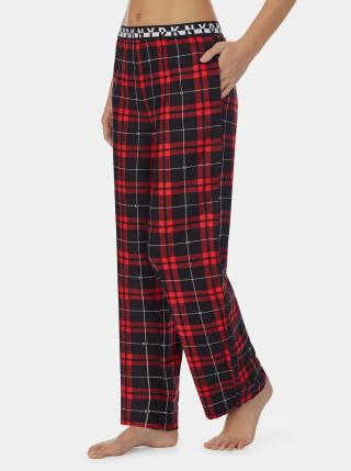 Červené kostkované pyžamové kalhoty DKNY dámské červená S