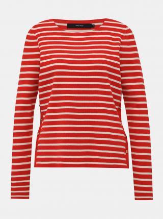 Červený pruhovaný svetr VERO MODA Sailor dámské červená L