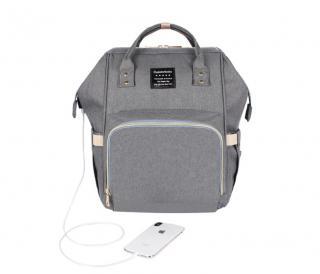 Cestovní batoh pro maminky Barva: šedá