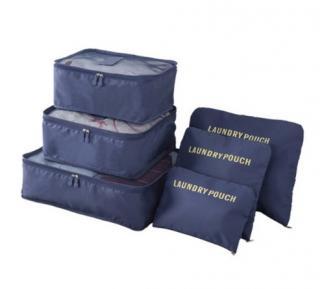 Cestovní organizery do kufru - 6 ks Barva: námořnická modrá