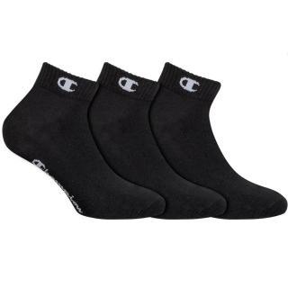 CHAMPION ANKLE SOCKS LEGACY 3x - Sportovní kotníkové ponožky 3 páry - černá dámské Neurčeno L