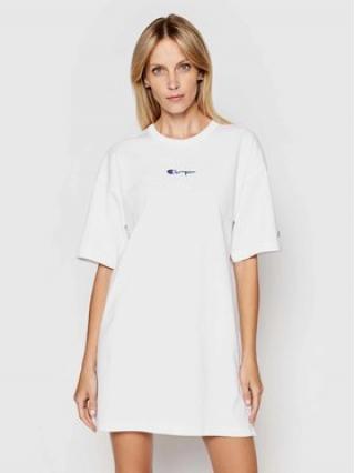 Champion Každodenní šaty Small Script Logo 112743 Bílá Custom Fit dámské XS