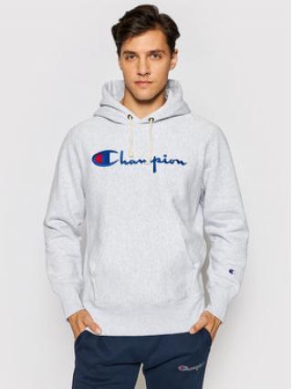 Champion Mikina Script Logo 215159 Šedá Custom Fit pánské S