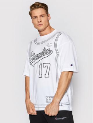Champion T-Shirt Basketball Tank Print 216427 Bílá Custom Fit pánské S