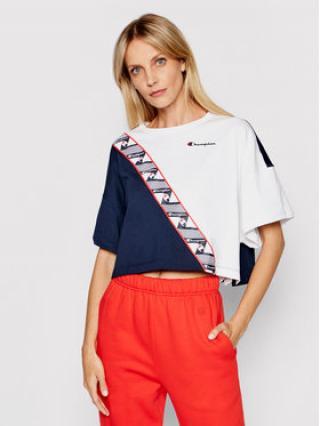 Champion T-Shirt Colour Block Jacquard Logo Tape 112767 Barevná Custom Fit dámské L