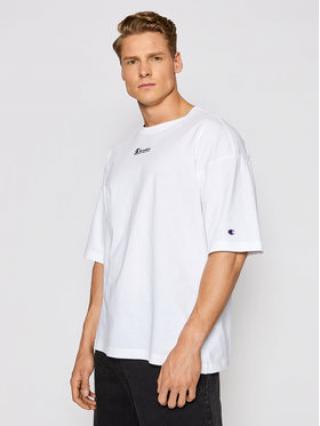 Champion T-Shirt Deconstructed C Logo 214420 Bílá Custom Fit pánské M