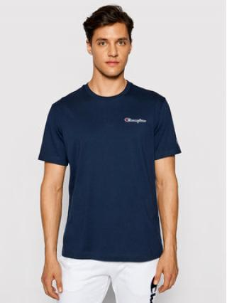 Champion T-Shirt Ombre Stripe 215940 Tmavomodrá Comfort Fit pánské S