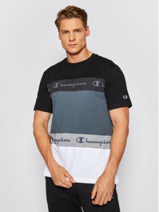 Champion T-Shirt Ombré Stripe 215948 Černá Comfort Fit pánské S