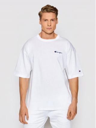 Champion T-Shirt Small Script Logo 214282 Bílá Custom Fit pánské S
