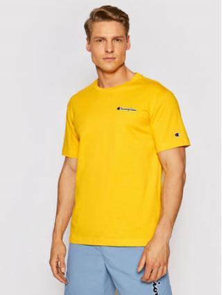 Champion T-Shirt Small Script Logo 215940 Žlutá Comfort Fit pánské S