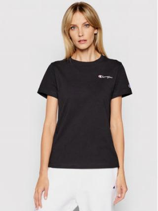Champion T-Shirt Small Script Logo Crew Neck 112195 Černá Regular Fit dámské XS