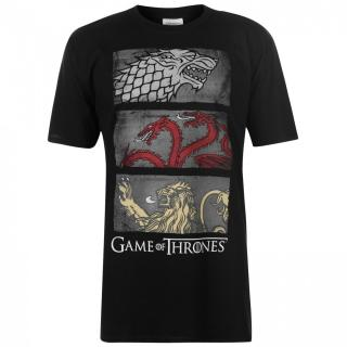 Character Game of Thrones T Shirt Mens pánské 3 Sigil Row  | Other S