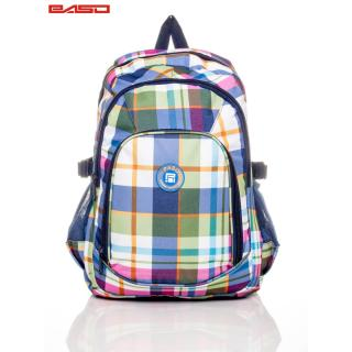Checked school backpack Neurčeno One size