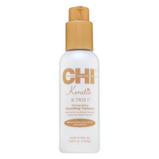 CHI Keratin K-Trix 5 Thermal Active Smoothing Treatment uhlazující stylingové mléko pro hrubé a nepoddajné vlasy 115 ml