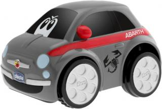 CHICCO Autíčko Turbo Touch – FIAT 500 ABARTH šedá