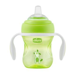 CHICCO Hrneček Učíme se s držadly 200 ml, zelený 4m  zelená