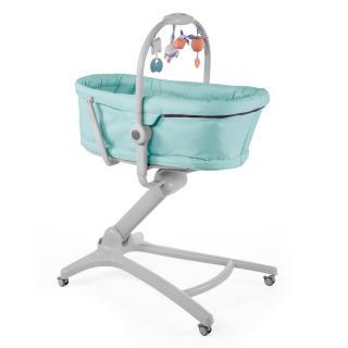 CHICCO Postýlka/lehátko/židlička Baby Hug 4v1 - Aquareelle tyrkysová