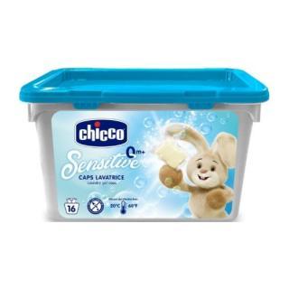 CHICCO Tobolky prací gelové Chicco Sensitive, 16 ks modrá