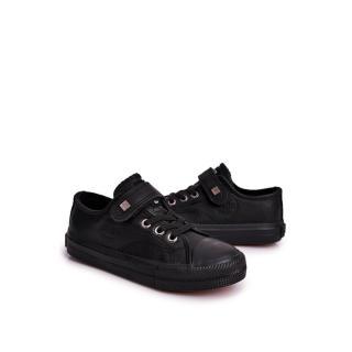 Childrens Leather Sneakers BIG STAR EE374034 Black Neurčeno 35