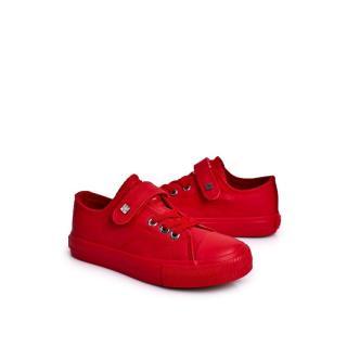 Childrens Leather Sneakers BIG STAR EE374036 Red Neurčeno 35