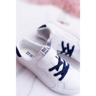 Childrens Sneakers With Velcro Big Star DD374107 White-Navy Neurčeno 35
