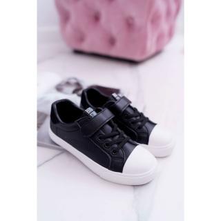 Childrens Sneakers With Velcro Big Star DD374108 Black Neurčeno 35