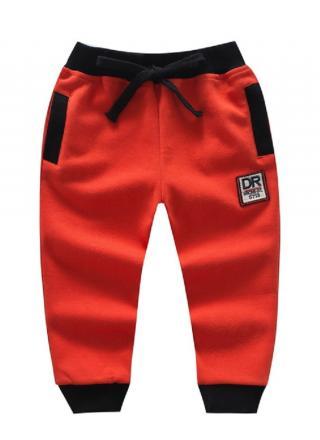 Chlapecké bavlněné tepláky - 5 barev Barva: červená, Velikost: 9-12 měsíců