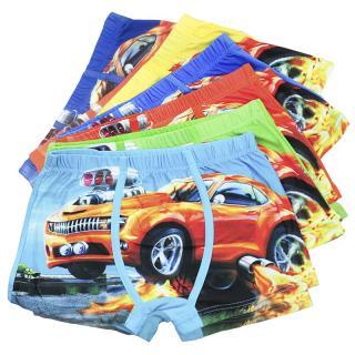 Chlapecké boxerky s potiskem auta - 5 kusů Velikost: 3