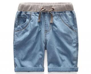 Chlapecké džínové kraťasy - 2 barvy Barva: světle modrá, Velikost: 9-12 měsíců