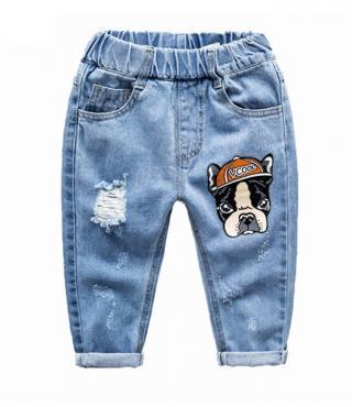 Chlapecké džíny s karikaturou psa - Modré Velikost: 2