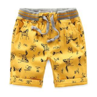 Chlapecké kraťasy s potisky - 4 barvy Barva: žlutá, Velikost: 18-24 měsíců