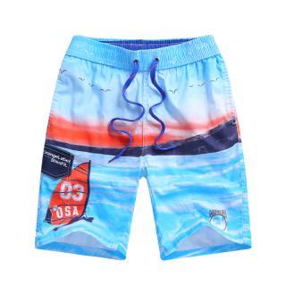 Chlapecké plážové kraťasy s potiskem oceánu - 2 barvy Barva: světle modrá, Velikost: 7